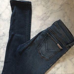 Hudson MidRise Nico skinny distressed jeans SIZE28